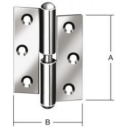 Gångjärn - standard - valsad - höger/vänster