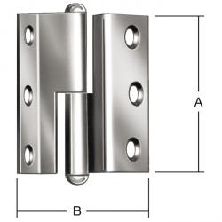 Gångjärn - valsad - höger/vänster - böjda - 20 stycken