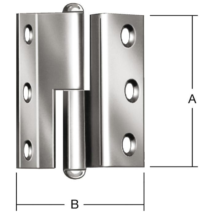 Normenscharnier - gerollt - rechts/ links - gekröpft - VE 20 Stück - Preis per VE