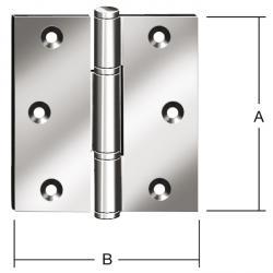 Dörrgångjärn - valsat - rostfritt stål - 2 stycken