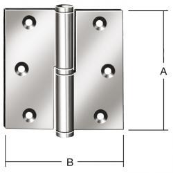 Charnière de porte - levée sur - gauche / droite - laminé - acier - 2 pièces