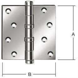 Kullager dörrgångjärn - valsad - rak - tung - paket med 2 - pris per paket