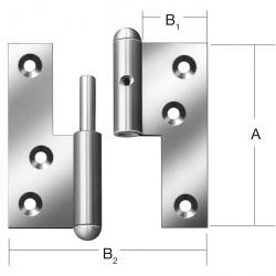 Dörr Skruv Q1 - vänster / höger - 10 st