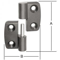 Polyamid Aushebescharnier - vänster / höger - 10 st