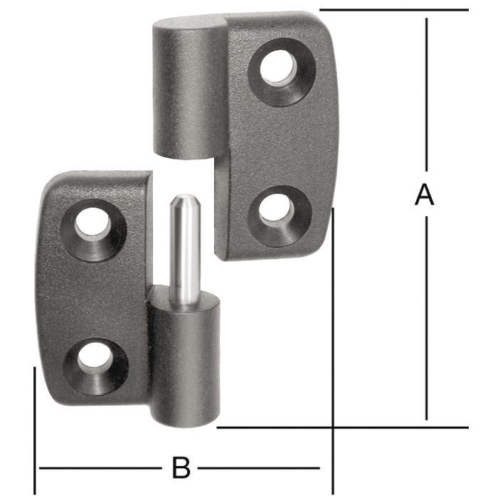Polyamid-Aushebescharnier - rechts/ links - VE 10 Stück - Preis per VE