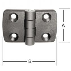 Polyamide hinge - with stainless steel pin - 10 pieces