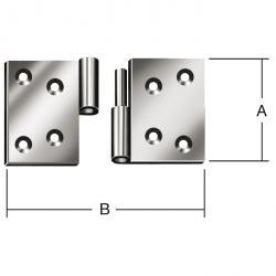 Aushebeschieren - rolled - galvanized - execution right or left