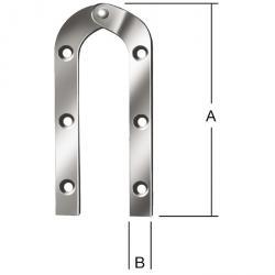 Leiterband - gebogen - verzinkt - 10 Stück
