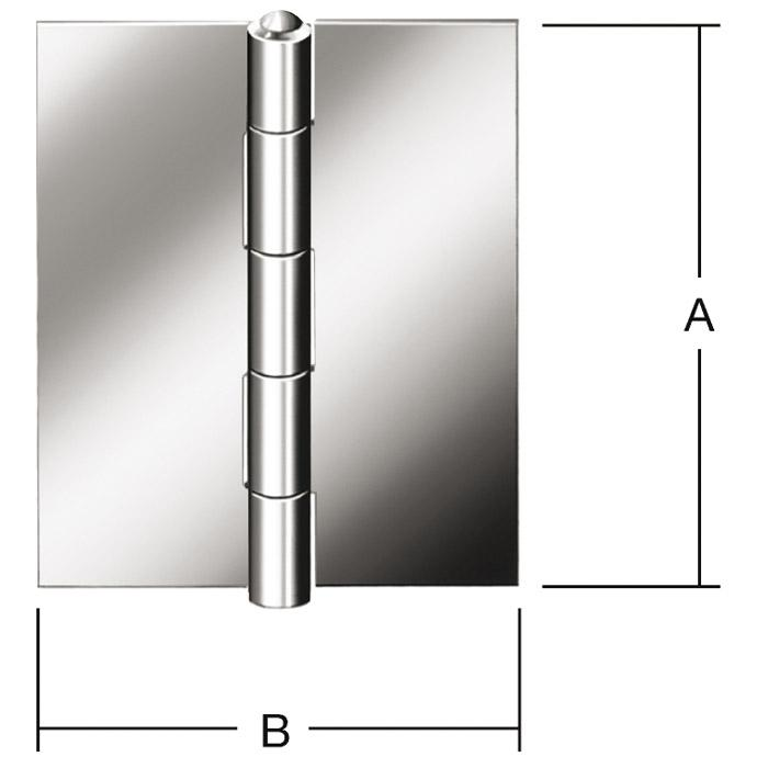 Scharnier - halbbreit - gerollt - ungebohrt - Preis per Stück oder VE