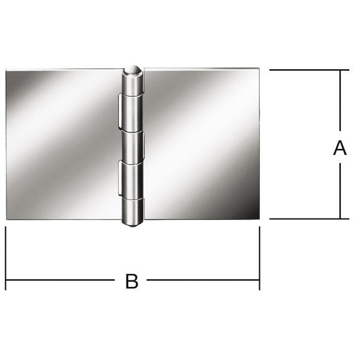 Scharnier - breit - gerollt - ungebohrt - Preis per Stück oder VE