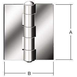 Stahlfensterscharnier - gerollt - ungebohrt - 20 Stück