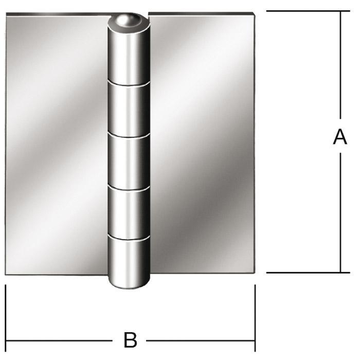 Stahlfensterscharnier - gerollt - DIN 18286 B - ungebohrt - VE 20 Stück - Preis per VE