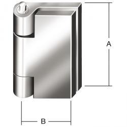 Profil Nietgelenkband - DIN 31211 - borrade - 10 pack