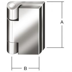 Pin gemensamma band - DIN 31211 - borrade - 10 pack