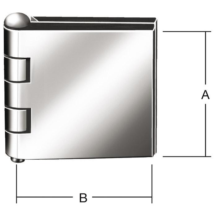 Wagentürscharnier - ungebohrt - Eisen blank - VE 10 Stück - Preis per VE