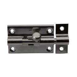 Grendelriegel - Edelstahl (V2A) - 55 x 35 mm - mit Schlaufe - VE 5 Stück - Preis per VE