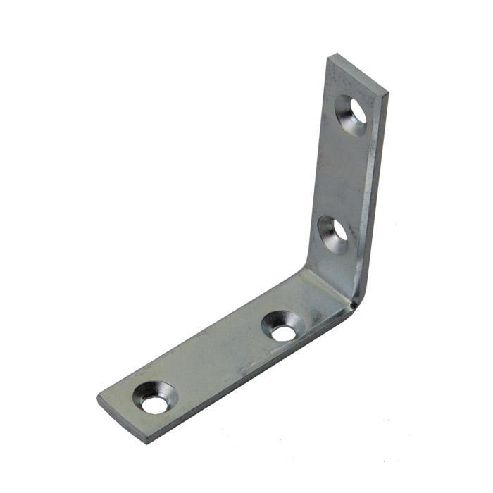Möbelwinkel - Stahl - innen versenkt -  verzinkt oder vermessingt - Materialstärke 2 mm - Preis per VE
