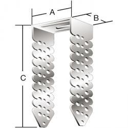 Connecteur d'espacement universel - sendzimir - 60 pièces