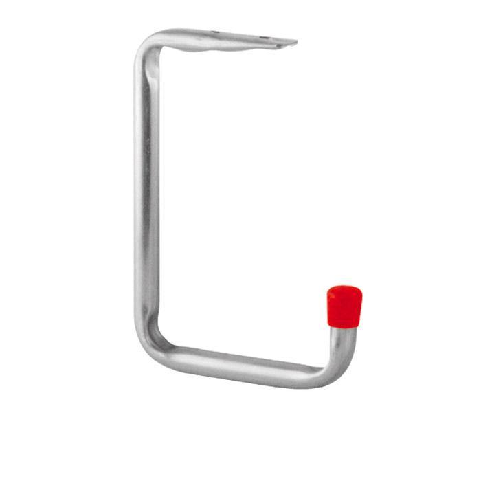 Väggkrok / takkrok - galvaniserad - med röda ändknoppar