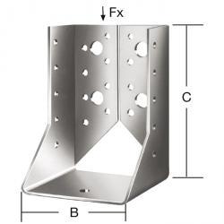 Balkenschuh - Typ B - sendzmirverzinkt - mit CE-Kennzeichnung - VE 10 Stück - Preis per VE