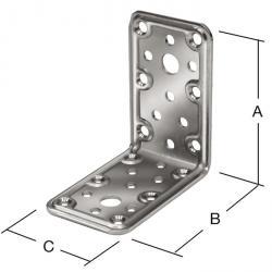 Connecteur d'angle combiné - acier - galvanisé ou cataphorèse - épaisseur 2,3 - 25 pièces - prix par paquet