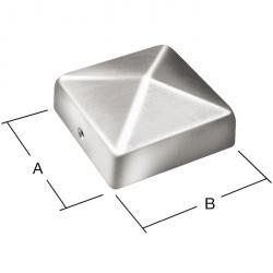 Pfostenkappe - ohne Kugel -  Schraublöcher 2 (Ø 3 mm) - VE 10 Stück - Preis per VE