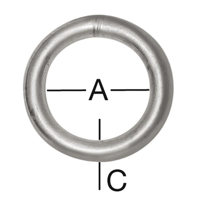 Ring - stål - 10 st