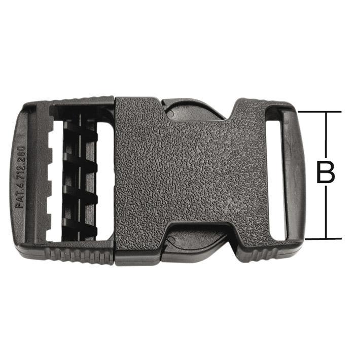 Spänne - för bälten - svart - plast - 5 st