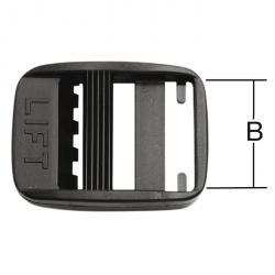 Quick - för bälten - svart - plast - 10 st