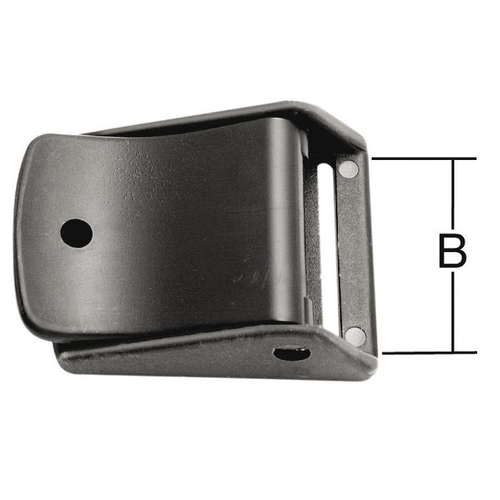 Clipspänne - för bälten - svart - plast - 5 st