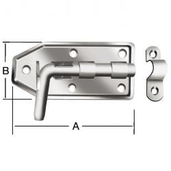 Bolzenriegel - Stahl - feuerverzinkt - mit Schlaufe - Bolzen-Ø 16 mm - Stärke 2,5 mm