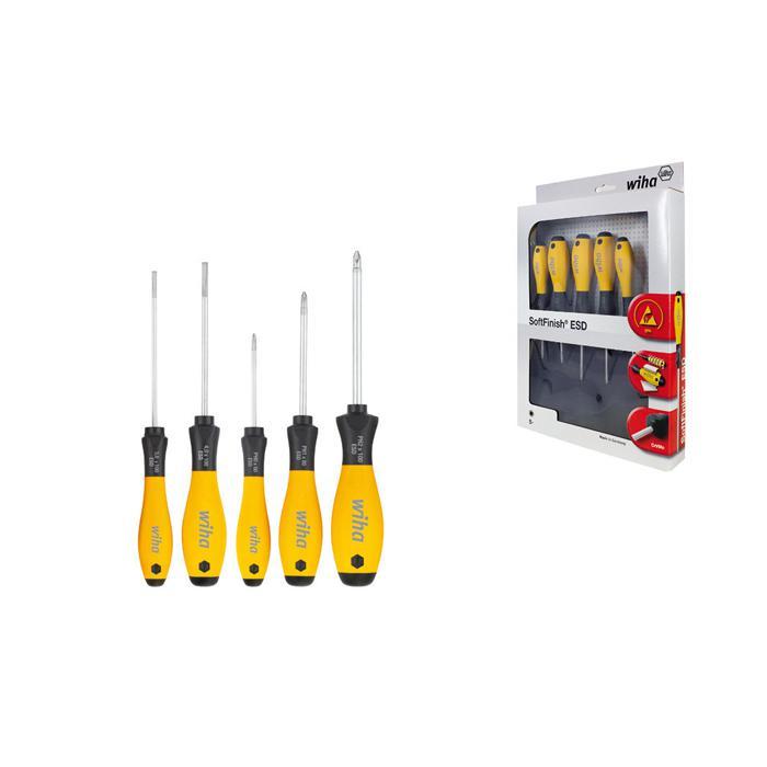 Skruvmejslar SoftFinish® ESD - set (5 st.) - Spår   Phillips - Serie 302ESD  HK5 01 736ad18a79720
