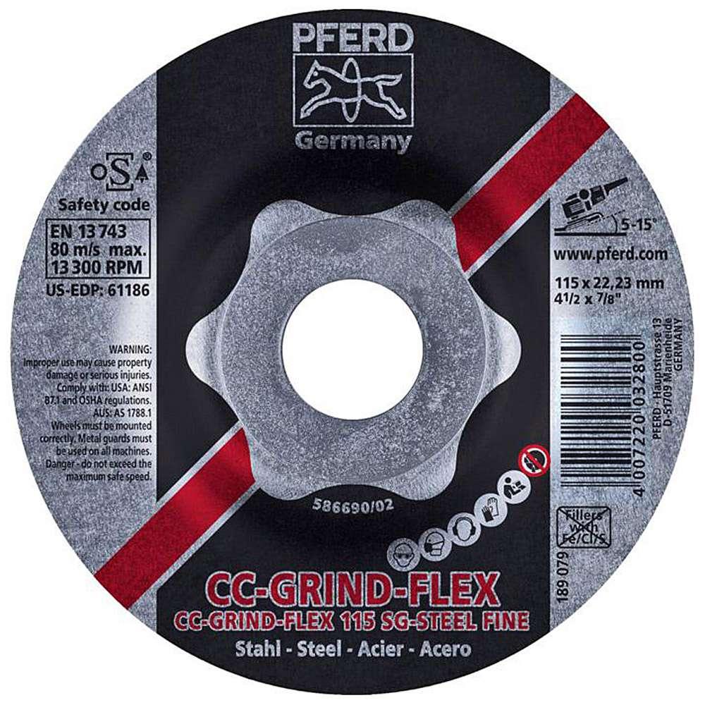 Schleifscheibe - PFERD CC-GRIND®-FLEX - Ø 115 oder 125 mm - für Stahl - VE 10 Stück - Preis per VE