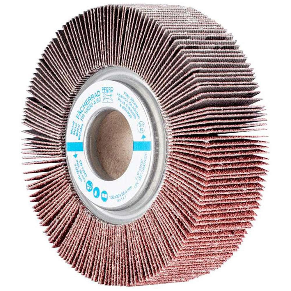 Fächerräder - PFERD - Korund A - Ø 150 mm - Bohrungs-Ø 25,4 bis 44 mm - Korngröße 40 bis 320 - VE 1 und 2 Stück - Preis per Stück und VE