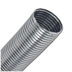 Metallschlauch - verzinkt - Innen-Ø 50 bis 300 mm - Außen-Ø 58,5 bis 315 mm - Preis per Meter