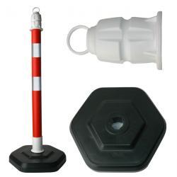 Kettenständer - PPC - mit Öse - Höhe 1m - rot/weiß - reflektierend - Gewicht 4,5kg
