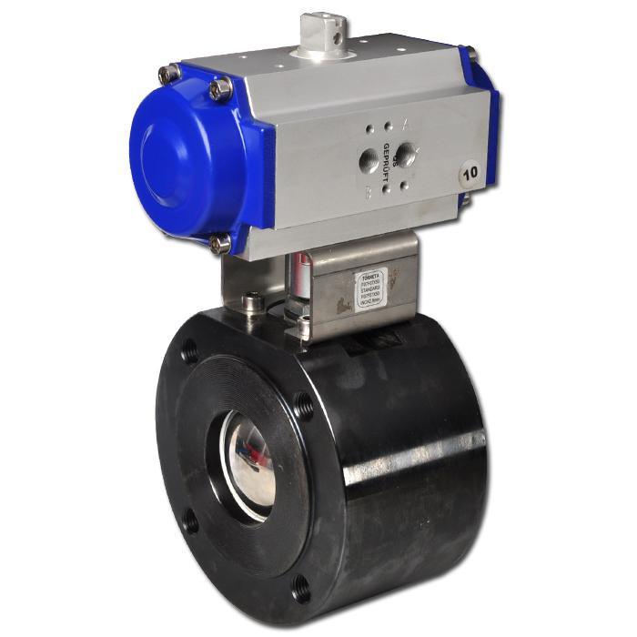 Flansch-Kugelhahn - pneumatischem Antrieb - PN 16 bar