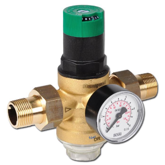 Filtertryckregulator för dricksvatten och kväve (silkopp i plast)