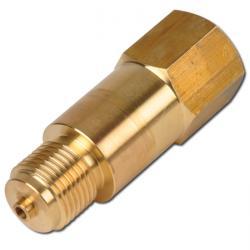 Pezzo di collegamento per manometro - con perno adattatore e staffa di montaggio per presa DIN 16.281