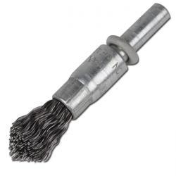 Pinselbürste - mit Schaft - Bürsten-Ø 10 mm - ungezopft Stahldraht - Ausführung