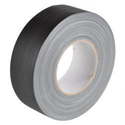 Vävtejp - PE-belagd - matt - svart