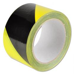 Ruban de marquage - adhésif - jaune/noir - longueur 66 m - largeur 60 mm