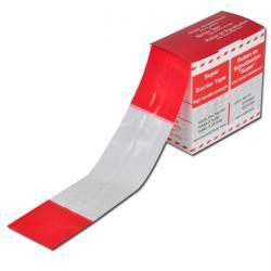 Ruban de délimitation - couleur rouge/blanc - largeur 80mm - 100m