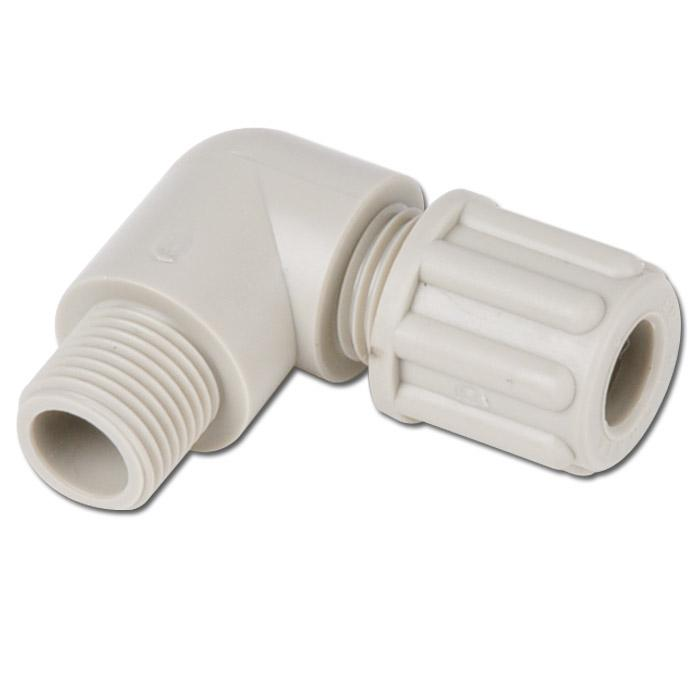 Winkel-Einschraubverschraubungen PP - bis 10 bar