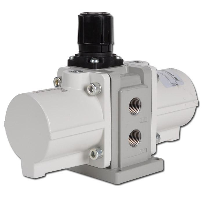 Trycköverförare/tryckhöjare för tryckluft - max. 2600 l/min