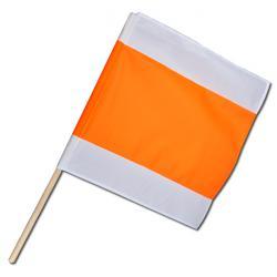 Drapeau de signalisation 50x50cm - blanc/orange/blanc