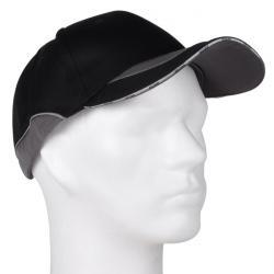 """Keps """"TILL"""" - 65% bomull/35% polyester - svart/grå - justerbar"""