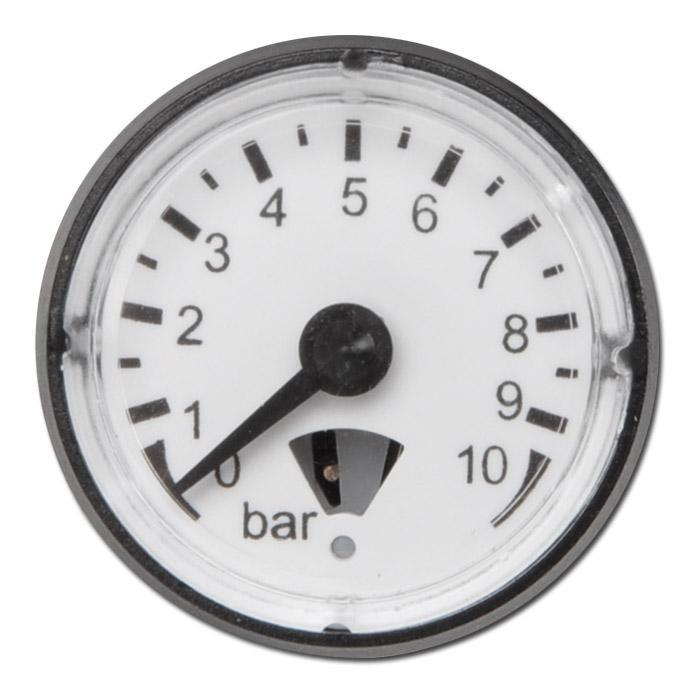 Manometer - Klasse 4,0 - Ø 23mm - Abgang hinten - bis 16bar Messbereich