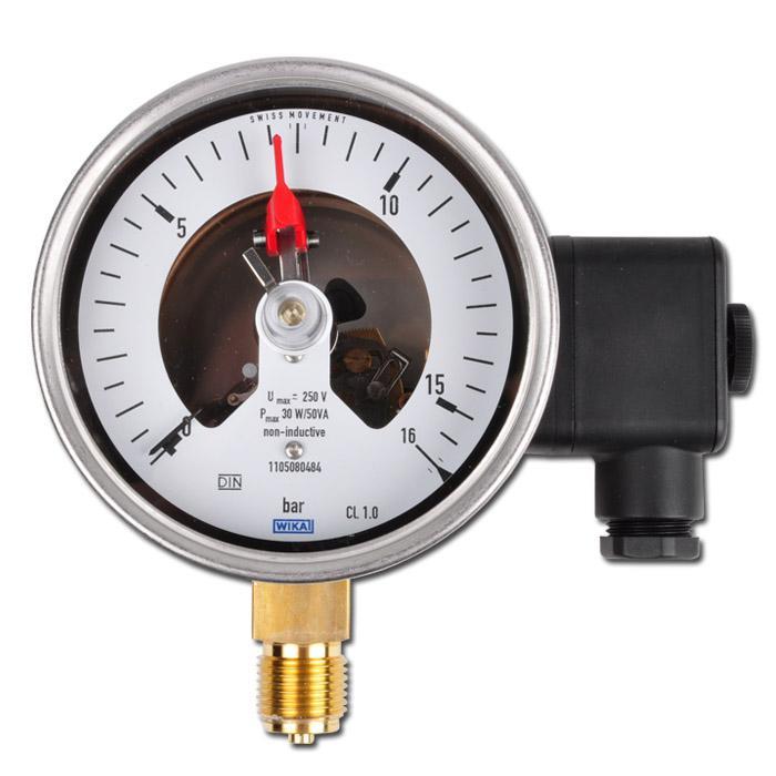 La pressione di contatto - da -1 bar a 600 bar - Ø 100 / Ø 160 mm - acciaio inox, ottone - perpendicolare