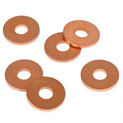 Anello di guarnizione / profilato di tenuta per manometri - piatto - rame, PTFE, VA